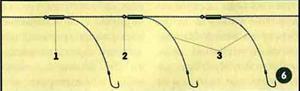 как привязать крючок к леске на донке